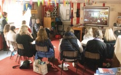 Teachers at Blofield school to review the 'Through the Door' learning module