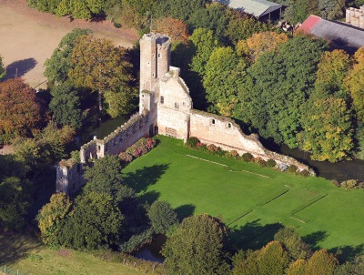 Caister castle in 2008 from Mike Page's selection of aerial photographs.