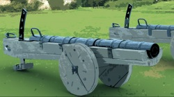 A medieval field cannon of the type probably used at Caister
