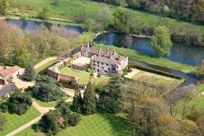 Mannington Hall from the air, courtesy of Mike Page.