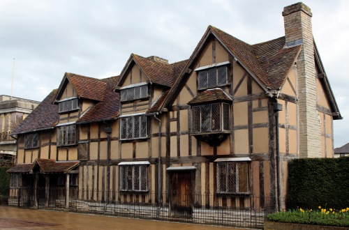 William Shakespeare would be growing up here in Stratford upon Avon a century after the time of the Wars of the Roses documents.