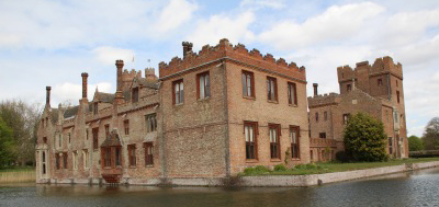Oxburgh Hall is a magnificent moated property, built in 1482 during the Wars of the Roses